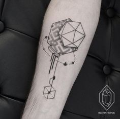 Creative Geometric Tattoo Design by Bicem SInik