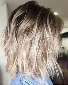Image for cool ash blonde balayage #BlondeHairstylesCool