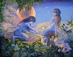 Mending By Magic Josephine Wall Art painting fairytale fairy fairies magic wand