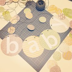 Handmade banner - Welcome Baby Buzzard. Used a circle cutter and cut out the letters after printing on white card stock. Welcome Back Sign, Welcome Baby, Buzzard, Gender Neutral, Card Stock, Banner, Printing, Baby Shower, Letters