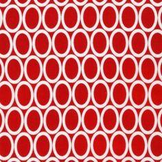 Tissu Remix Ovales Red