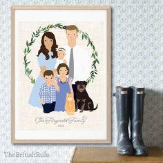 Illustration de Portrait de famille Portrait personnalisé (gens du PORTRAIT de BASE deux) personnalisée personnalisé gratuit numérique carte de vœux de Noël par TheBritishRule sur Etsy https://www.etsy.com/fr/listing/207806334/illustration-de-portrait-de-famille