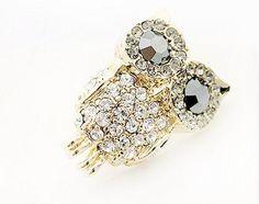 partm Women Fashion Cute Animal Shape Rhinestone Snap Closure Brooch Pin Jewelry Boxes