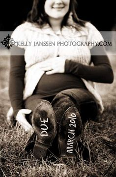 maternity - due date on soles of shoes. love it!