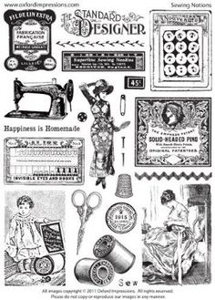 Oxford Impressions sewing notions stamp plate