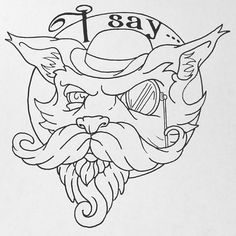Never trust a fox in a bowler hat,words to live by. #sketch #linework #art #illustration #design #isay #fox #fancy #monacle #bowlerhat #victorian #steampunk #anthropomorphic #beard #moustache #fantastic #character #robpawlewski #buffalonewyork #deadmanshandtattoo #nerdlife