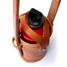 Water bottle carrier — Baldwin Leather - Hand crafted leather goods