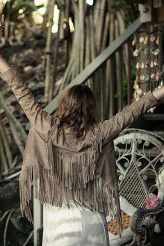 Cowgirl Dreams Tassel Jacket Taupe