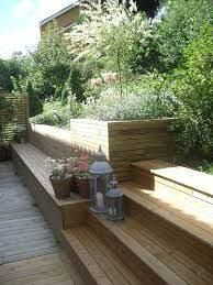 backyard designs – Gardening Ideas, Tips & Techniques Hillside Landscaping, Modern Landscaping, Back Gardens, Outdoor Gardens, Pergola, Sloped Garden, Terrace Garden, Garden Inspiration, Outdoor Decor