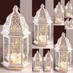 "10 Large Distressed Lantern Moroccan Candleholder Wedding Centerpieces 16"" Tall #GalleryofLight"
