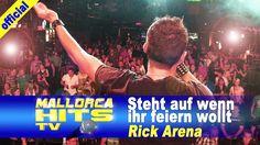 """Rick Arena mit """"Steht auf wenn ihr feiern wollt"""" - die Partykanone Rick Arena, live in der Rockfabrik Nürnberg. Seit Jahren in der Mallorca & """"Ballermann""""-Szene, bekannt durch Songs wie """"Millionen Frauen lieben mich"""", """"Ein Kompliment"""", """"Nacht voll Schatten"""" und den neuen Rock Song """"So wie in alten Tagen"""" im Duett mit Ikke Hüftgold. http://mallorcahitstv.de/2014/06/rick-arena-steht-auf-wenn-ihr-feiern-wollt-rockfabrik/"""