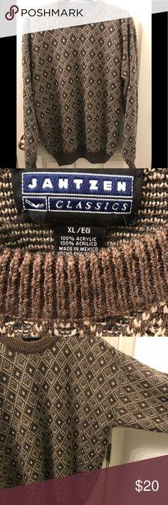 Vintage 90's Jantzen Classic Men's Sweater XL EUC Vintage 1990's acrylic Jantzen Classic Men's Sweater in excellent condition. Size is XL and has no rips, holes or stains. Jantzen Classic Sweaters Crewneck
