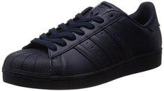 adidas Superstar Foundation Herren Sneakers, Blau (Night Navy/Night Navy/Night Navy), 44 2/3 EU - http://on-line-kaufen.de/adidas/44-2-3-adidas-superstar-foundation-herren