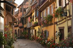 Eguisheim, France - Beautiful places to go in Europe. Places Around The World, Travel Around The World, Around The Worlds, Places To Travel, Places To See, Voyage Europe, Europe Photos, France Travel, Vacation Spots