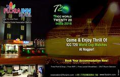 ICC T20 Cricket World Cup 2016 Nagpur Hotels Booking Online - Flora Inn