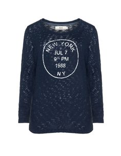 Zizzi Printed cotton jumper  in Blue.  Have this one, it's perfect and longer than it seems.