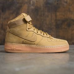 newest collection f22c8 302b7 Nike Men Air Force 1 High  07 Lv8 Wb (flax   flax-outdoor green-gum light  brown)