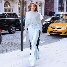 Gigi walking the streets of NYC in a ice blue Sally LaPointe look... #welove #outfitinspo  via INSTYLE AUSTRALIA MAGAZINE OFFICIAL INSTAGRAM - Fashion Campaigns  Haute Couture  Advertising  Editorial Photography  Magazine Cover Designs  Supermodels  Runway Models