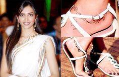 Deepika Padukone's anklet tattoo
