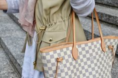 Louis Vuitton Neverfull, Burberry rose scarf, Michael Kors vest Style | City Talk