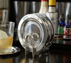 Speakeasy Drink Coaster, Set of 4 #potterybarn - GREAT GIFT   $29.50