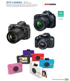 Diverse collection of consumer technology hardware, including digital cameras, pro audio gear and more. #photography #shareasale