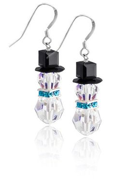 Jewelry Making Earrings Swarovski Snowman Earring Kit - Crystal - Kit comes with everything to make one pair of earrings.Includes all beads Swarovski Crystal, Sterling Silver , **Approx. tall when assembled. Jewelry Kits, Jewelry Crafts, Jewelry Making, Making Bracelets, Jewelry Accessories, Sea Glass Jewelry, Wire Jewelry, Jewlery, Gold Jewellery