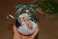 DIY Our First Christmas Personalized Ornament | ... of a smart blonde: DIY Personalized Christmas Ornament with Photo