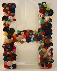 Letter art with buttons