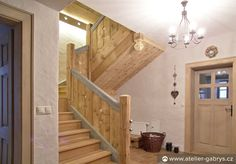 Ateliér Gabryš - Venkovský zděný dům Wooden Staircases, Stairs, Haly, House, Home Decor, Log Projects, Stairway, Decoration Home, Wooden Stairs
