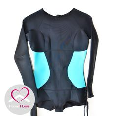 New High Quality Neoprene Ladies Springsuit Wetsuit Size M AU 10 - 12 Newest design ladies long sleeve springsuit style neoprene wetsuit. Back zip, cheeky cut bottom, perfect for surfing, stand up peddling... Highest quality fabric, black with aqua blue sides. Size M  fits AU size 10 -12 Price: AU $99.95 News Design, Aqua Blue, Wetsuit, Surfing, Size 10, Long Sleeve, Fitness, Fabric, Swimwear