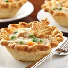 Mini Turkey Pot Pie - perfect use for Thanksgiving leftovers! Find the recipe under the Inspiration tab/Thanks for the Tip!