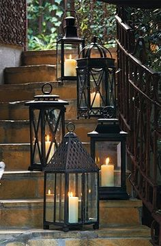 Showcase delicate candlelight for evening entertaining.