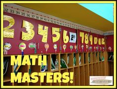 MATH MASTERS {Multiplication Fact Fluency} Ideas for practicing math facts in class - and free printable fact pages, too!