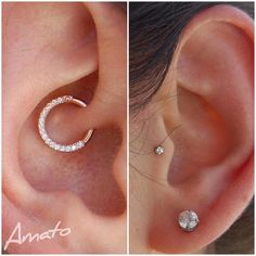 "74 Likes, 1 Comments - Margo ✨ (@piercingsbymargo) on Instagram: ""This client wanted to upgrade her 12 year old daith piercing from its original jewelry to something…"""