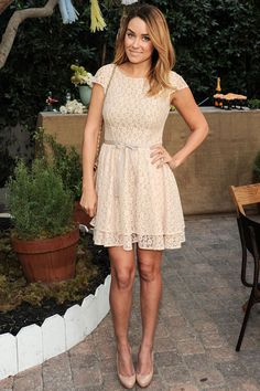 Lauren Conrad in ladylike lace.