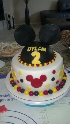 This was a Micky Mouse birthday cake for Dylan's 2nd Birthday! Thanks, @Mariana Machado. Can't wait for Dylan's next birthday!