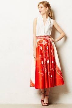 Retro perfection Sundial Skirt from anthropologie