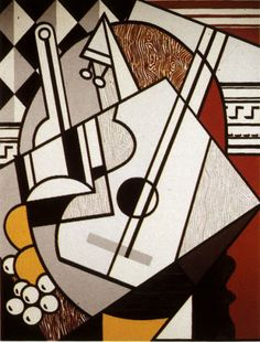 "Roy Lichtenstein ""Cubist Still Life"" 1974 7 ft 6 in x 5 ft 8 in Pop Art Period Roy Lichtenstein, Georges Braque, Pop Art, Industrial Paintings, Cubism Art, Pablo Picasso, Art Music, Oeuvre D'art, Art History"