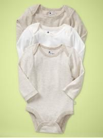 Baby Gap Favorite Bodysuit 3 Pack Oatmeal 0-3 Months 18.00 paid 10.80 - FREE with gift card