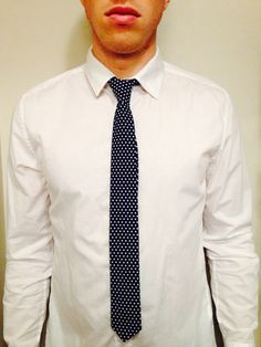 Classic Beaux Necktie, Can't go wrong with polka dots. Slim fit necktie, fabrics sourced locally and handmade in Vancouver, BC. Vancouver, Polka Dots, Fabrics, Slim, Classic, Handmade, Collection, Fashion, Beauty
