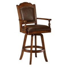 Nassau Swivel Bar Stool, Brown