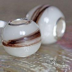 Breast Milk & Lock of Hair Bead