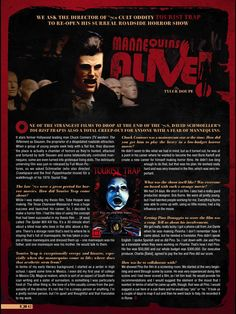 A Rue Morgue Magazine #interview I did with #horror director #DavidSchmoeller reflecting on #TouristTrap  #Horror #HorrorMovies  #70sHorror #RueMorgue #RueMorgueMagazine #HorrorMovies #ChuckConnors