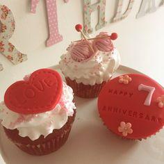 Cupcake Noce de coton, 7 ans de mariage