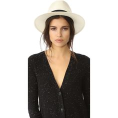 Rag & Bone Panama Hat (15,035 INR) ❤ liked on Polyvore featuring accessories, hats, panama straw hat, straw hat, brim straw hat, brimmed hat and band hats