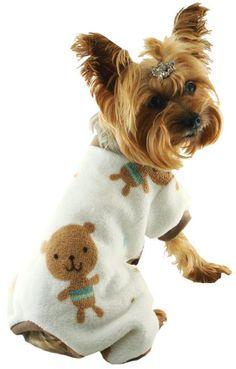 Cute Dog Pajamas- Teddy Bear Pet PJs Puppies In Pajamas 896631817