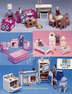 Dollhouse Furniture Plastic Canvas Patterns New | eBay