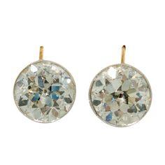 6.14 Carat Antique Diamond Earrings | circa 1900 france-http://www.1stdibs.com/jewelry/earrings/lever-back-earrings/