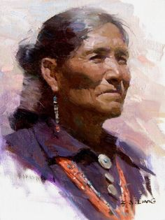 Navajo Lady by Z. S. Liang